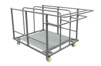 Chariot pour tables rondes PEHD