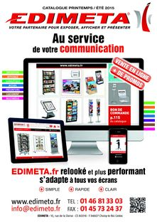 CATALOGUE EDIMETA PRINTEMPS ETE 2015