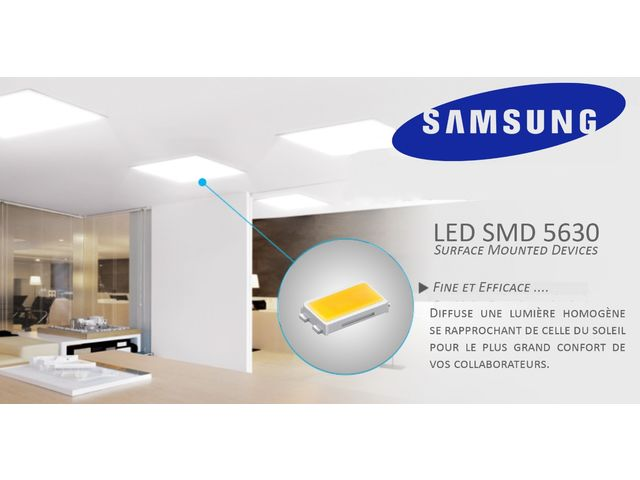 plafonnier dalle led samsung meanwell 60x60 service led devis gratuit. Black Bedroom Furniture Sets. Home Design Ideas