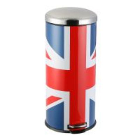 poubelle 30 litres union jack uk cdiscount pro devis gratuit. Black Bedroom Furniture Sets. Home Design Ideas